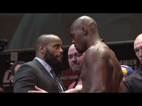 Embedded thumbnail for Daniel Cormier and Jon Jones clash at entertaining UFC 214 presser